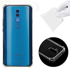 cheap Cases / Covers for Huawei-Case For Huawei Huawei Mate 20 Lite Shockproof / Transparent Back Cover Solid Colored Soft TPU for Huawei Mate 20 lite