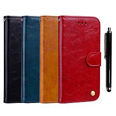 Недорогие Чехлы и кейсы для Xiaomi-Кейс для Назначение Xiaomi Redmi S2 / Xiaomi Redmi Note 6 Кошелек / Бумажник для карт / со стендом Чехол Однотонный Твердый Кожа PU для Xiaomi Redmi Note 6 / Xiaomi Redmi 6 Pro / Redmi 6A