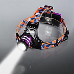 preiswerte Stirnlampen-U'King ZQ G7000 Stirnlampen Fahrradlicht LED LED 1 Sender 1000 lm 3 Beleuchtungsmodus Zoomable-, einstellbarer Fokus, Wiederaufladbar Camping / Wandern / Erkundungen, Angeln, Reisen