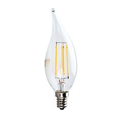 お買い得  LED 電球-GMY® 1個 3.5 W 350 lm E12 フィラメントタイプLED電球 CA10 4 LEDビーズ COB 装飾用 温白色 120 V