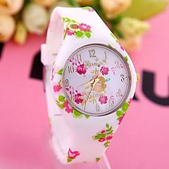 お買い得  大特価腕時計-女性用 ファッションウォッチ クォーツ 多色 ハンズ 花型 - Brown ブルー 虹色