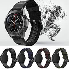 Недорогие -Ремешок для часов для Gear S3 Frontier / Gear S3 Classic / Samsung Galaxy Watch 46 Samsung Galaxy Спортивный ремешок Кожа / Нейлон Повязка на запястье