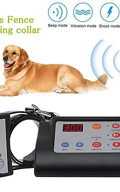 رخيصةأون -2 في 1 سياج كلب كهربائي لاسلكي&أمبير. تدريب الياقات الكلب التدريب ماء قابلة للشحن نظام الاحتواء الحيوانات الأليفة