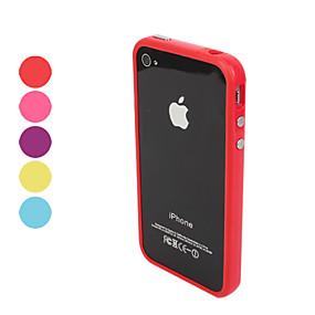 levne iPhone pouzdra-Carcasă Pro iPhone 4 / 4S / Apple Ochranný rámeček Měkké TPU pro iPhone 4s / 4