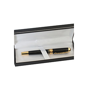 billige Invitationer og skrivemateriale-Personlig Sort og Guld Metal Black Ink Gel Pen