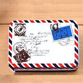 Недорогие Дом и кухня-Прямоугольник шаблон конверта жестяной ящик