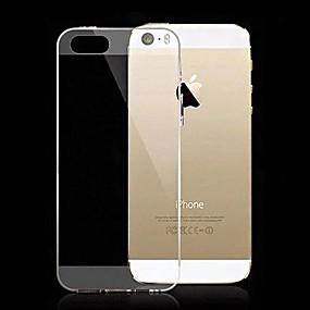 tanie Wyprzedaż-Kılıf Na iPhone 5 / Jabłko Etui iPhone 5 Ultra cienkie / Transparentny Osłona tylna Solidne kolory Miękka Silikon na iPhone SE / 5s / iPhone 5