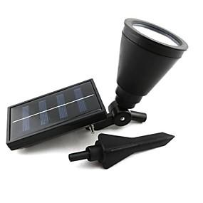 Недорогие Уличные фонари-Открытый солнечной энергии прожектор пейзаж пятно света сада лужайки наводнение лампа с 4 светодиода