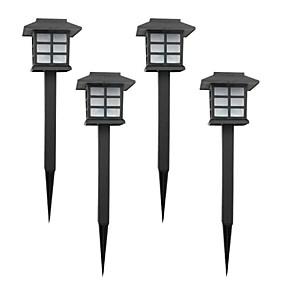 voordelige LED-verlichting op zonne-energie-4 stks kleur veranderende solar gazon lamp tuin stake light
