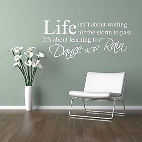 cheap Decoration Stickers-Words & Quotes Wall Stickers Plane Wall Stickers Decorative Wall Stickers, PVC Home Decoration Wall Decal Wall
