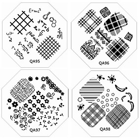 cheap Makeup & Nail Care-1pc-new-nail-stamping-image-plates-fashion-lace-fairy-tale-plate-for-diy-nail-art-decorations-assorted-pattern