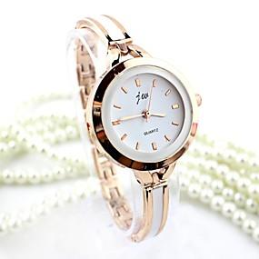 billige Quartz horloges-Dame Armbåndsur gullklokke Quartz Sølv / Gylden Imitasjon Diamant Analog damer Armring Mote - Sølv Gylden