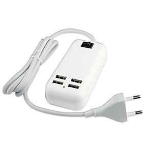billige Lader med kabel-Stasjonær lader USB-lader Eu Plugg Flere utganger 4 USB-porter til
