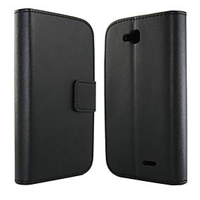 ieftine Carcase&Huse-Maska Pentru LG Portofel / Titluar Card / Cu Stand Carcasă Telefon Culoare solidă Greu PU piele