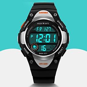 0147249cbd8ba رخيصةأون ساعات الأطفال-SKMEI رجالي ساعة رياضية ساعة المعصم ساعة رقمية  كوارتز رقمي مطاط أسود