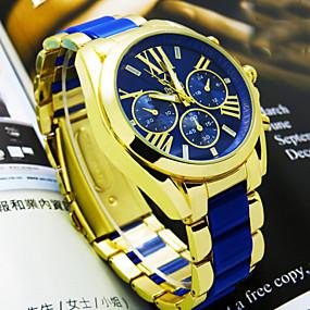 זול תכשיטים-בגדי ריקוד גברים שעון יד שעון תעופה קווארץ לבן / כחול / ורוד אנלוגי בז' כחול ורוד שנתיים חיי סוללה