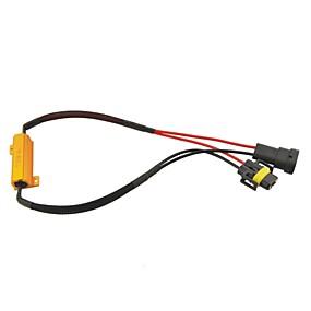 billige Til Bilen & Motorcyklen-bil H8 / H11 socket førte fejl advarsel canceller med 50W 8ohm modstand