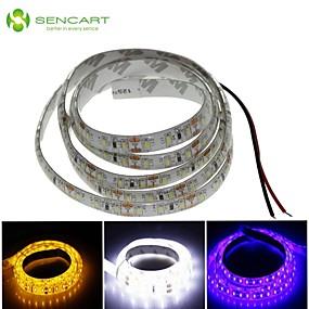 ieftine Benzi Lumină LED-SENCART 1m Fâșii De Becuri LEd Flexibile 120 LED-uri Alb / Albastru / Galben Rezistent la apă / Ce poate fi Tăiat 12 V / IP68
