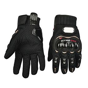 abordables Guantes para Moto-Guantes de moto Dedos completos Poliuretano/Algodón/Nailon/ABS M/L/XL Rojo/Negro/Azul