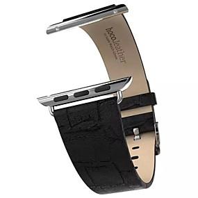 tanie HOCO-Watch Band na Apple Watch Series 4/3/2/1 Jabłko Klasyczna klamra Prawdziwa skóra Opaska na nadgarstek