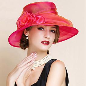 voordelige Hoeden & Petten-Dames Feest Netstof Floppy hoed-Zomer Lichtblauw Marine Blauw Fuchsia / Schattig / Rood / Paars / Roze / Hoed & Pet