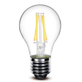 Χαμηλού Κόστους Λαμπτήρες LED με νήμα πυράκτωσης-1pc LED Λάμπες Πυράκτωσης 400 lm E26 / E27 G60 4 LED χάντρες COB Με ροοστάτη Θερμό Λευκό 220-240 V 110-130 V / 1 τμχ / RoHs / LVD