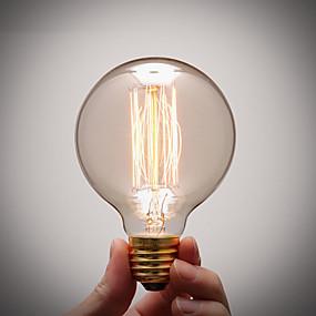 Χαμηλού Κόστους Λαμπτήρες LED με νήμα πυράκτωσης-1pc 40 W E26 / E27 G80 Θερμό Λευκό 2300 k Λαμπτήρας πυρακτώσεως Vintage Edison 220-240 V / 110-130 V
