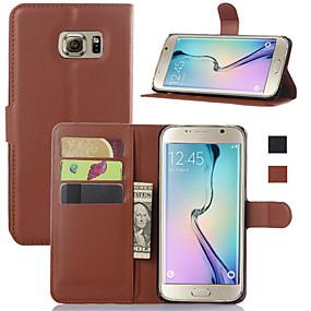 halpa Galaxy S -sarjan kotelot / kuoret-Etui Käyttötarkoitus Samsung Galaxy Samsung Galaxy kotelo Lomapkko / Korttikotelo / Tuella Suojakuori Yhtenäinen PU-nahka varten S6 edge plus / S6 edge / S6