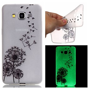 voordelige Galaxy Grand Prime Hoesjes / covers-hoesje Voor Samsung Galaxy J3 / J1 Ace / Grand Prime Glow in the dark / Patroon Achterkant Paardebloem TPU