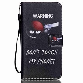 Недорогие Чехлы и кейсы для Galaxy S5 Mini-Кейс для Назначение SSamsung Galaxy S6 edge plus / S6 edge / S6 Кошелек / Бумажник для карт / со стендом Чехол Слова / выражения Кожа PU