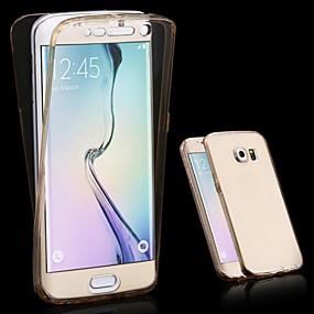 voordelige Galaxy S6 Edge Plus Hoesjes / covers-hoesje Voor Samsung Galaxy S6 edge plus / S6 edge / S6 Transparant Volledig hoesje Effen TPU