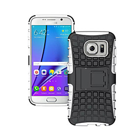 voordelige Galaxy S7 Hoesjes / covers-hoesje Voor Samsung Galaxy S8 Plus / S8 / S7 edge Schokbestendig / Reliëfopdruk Achterkant Schild PC