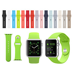 halpa Apple Watch-hihnat-Watch Band varten Apple Watch Series 4/3/2/1 Apple Urheiluhihna Silikoni Rannehihna
