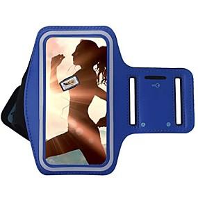 voordelige Galaxy S7 Edge Hoesjes / covers-hoesje Voor Universeel S8 Plus / S8 / S7 edge met venster / Armband Armband Effen Zacht tekstiili
