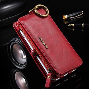 abordables Coques d'iPhone-cas pour iphone xr xs xs max portefeuille / porte-carte / avec support cas solide en cuir PU dur coloré pour iphone x 8 8 plus 7 7plus 6s 6s plus se 5 5s