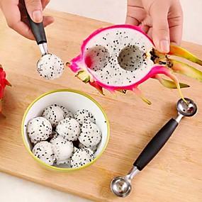 povoljno Kuhijnski alati-sladoled dvostruka kašičica žlica dinja baller rezač voće kuhinja alata