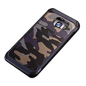 voordelige Galaxy S6 Edge Plus Hoesjes / covers-hoesje Voor Samsung Galaxy S7 Active / S7 plus / S7 edge Schokbestendig / Patroon Achterkant Camouflage Kleur PC