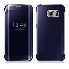 voordelige Galaxy S7 Hoesjes / covers-hoesje Voor Samsung Galaxy S9 / S9 Plus / S8 Plus Automatisch aan / uit / Beplating / Spiegel Volledig hoesje Effen PC / Transparant