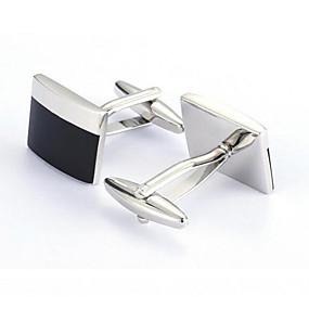 billige Mansjettknapper-Sølv Mansjettknapper Legering Kontor / Fritid Herre Kostyme smykker Til