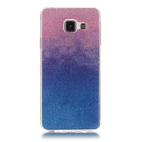 voordelige Galaxy A5(2016) Hoesjes / covers-hoesje Voor Samsung Galaxy A5(2016) / A3(2016) Achterkant Kleurgradatie Zacht TPU