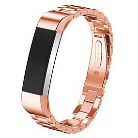 economico Cinturini per Fitbit-Cinturino per orologio  per Fitbit Alta Fitbit Cinturino sportivo Acciaio inossidabile Custodia con cinturino a strappo