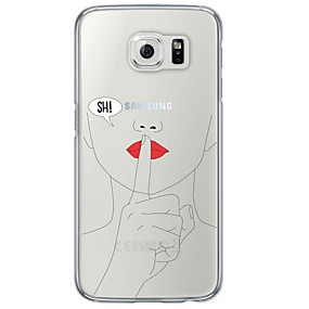 voordelige Galaxy S7 Edge Hoesjes / covers-hoesje Voor Samsung Galaxy S7 edge / S7 / S6 edge plus Ultradun / Doorzichtig Achterkant Andere Zacht TPU