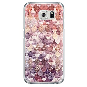 voordelige Galaxy S6 Edge Plus Hoesjes / covers-hoesje Voor Samsung Galaxy S7 edge / S7 / S6 edge plus Ultradun / Doorzichtig Achterkant Geometrisch patroon Zacht TPU