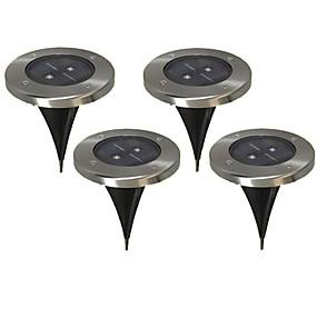 billige Pathway Lights-2 lysdioder Varm hvid Genopladelig / Dekorativ Batteri