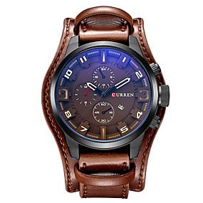 e961c284508f8 رخيصةأون ماركات ساعات-CURREN رجالي ساعة رياضية ساعة عسكرية ساعة المعصم  كوارتز جلد أسود