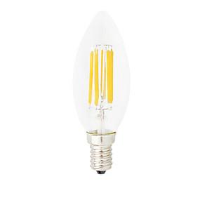 Χαμηλού Κόστους Λαμπτήρες LED με νήμα πυράκτωσης-HRY 1pc 6 W LED Λάμπες Πυράκτωσης 560 lm E14 C35 6 LED χάντρες COB Με ροοστάτη Διακοσμητικό Θερμό Λευκό Ψυχρό Λευκό 220-240 V / 1 τμχ / RoHs