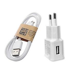 billige Hurtigladere-Oplader til hjemmet / Lille og mobil oplader USB oplader EU Stik Hurtig opladning 1 USB-port 1 A for