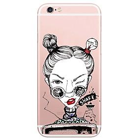 olcso iPhone 7 Plus tokok-Mert Ultra-vékeny / Átlátszó Case Hátlap Case Szexi lány Puha TPU AppleiPhone 7 Plus / iPhone 7 / iPhone 6s Plus/6 Plus / iPhone 6s/6 /