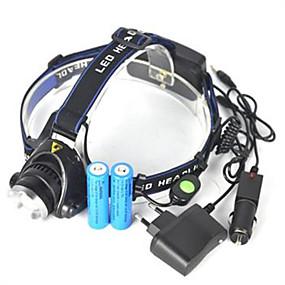 olcso Zseblámpák-Fejlámpák Biciklis első lámpa LED Cree® XM-L T6 Sugárzók 5000 lm 1 világítás mód Ferde extruderfej Szuper könnyű Kempingezés / Túrázás / Barlangászat Kerékpározás Vadászat