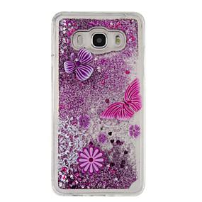 voordelige Galaxy J5 Hoesjes / covers-hoesje Voor Samsung Galaxy J5 (2016) / J5 / J3 (2016) Stromende vloeistof / Patroon Achterkant Glitterglans Zacht TPU